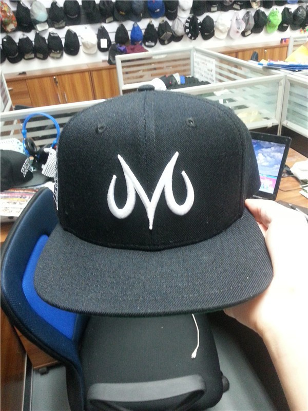 OEM factory 3D embroidery custom snapback hats wholesale / wool and acrylic fabric