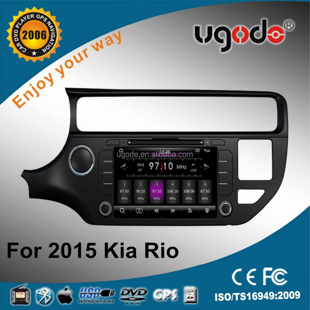 wholesale OEM 8 inch car dvd player with radio bluetooth gps car audio system for 2015 Rio