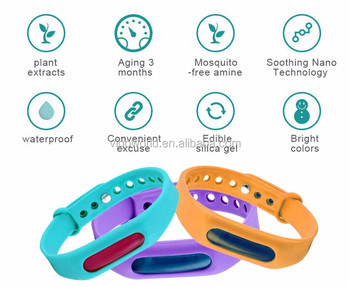 Eco-friendly natural non-irritant baby anti mosquito repellent bracelet