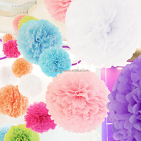Party decoration beautiful hanging tissue paper pom poms