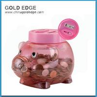 Piggy money box digital coin counting bank saving box