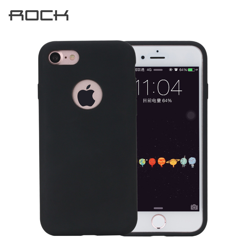 2016 New desing Rock for Apple iPhone 7 Plus back cover Touch Like Skin Silicone Phone case