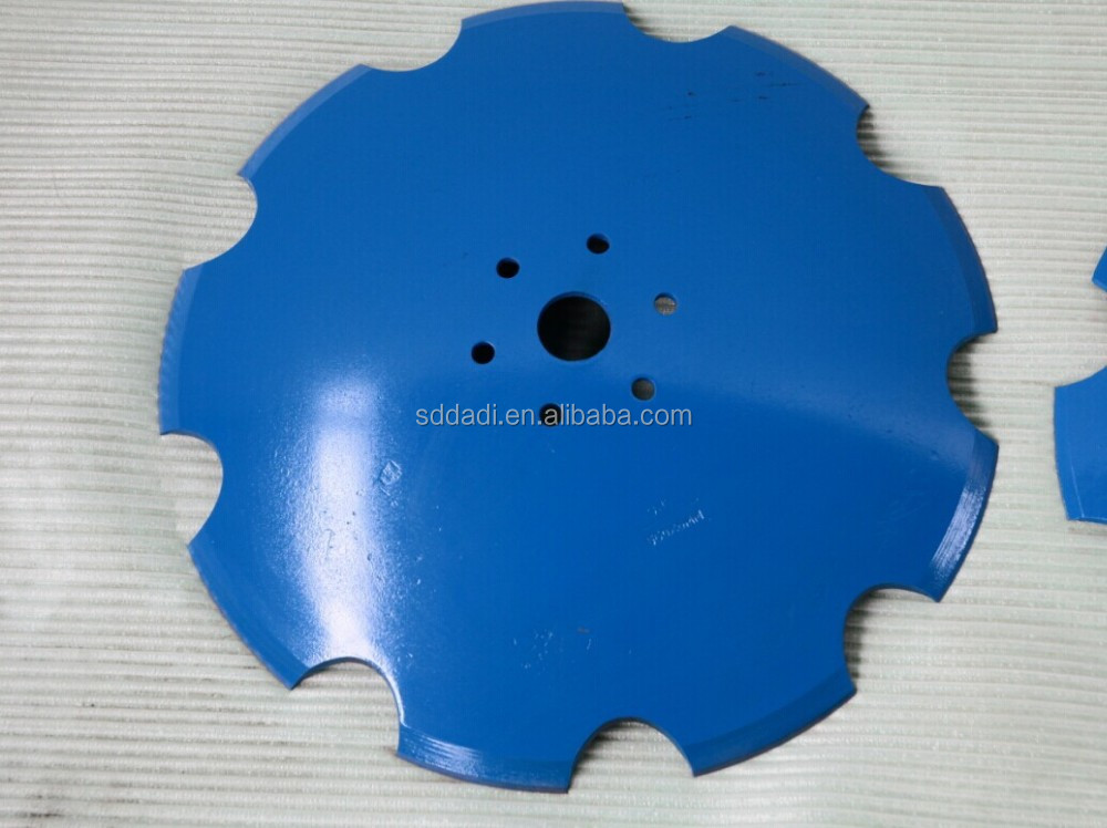 Notched Disc Harrow Blade 1 : Notched harrow disc blade mm scalloped blades