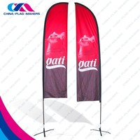 chinese custom double side activity feather beach flag manufacture