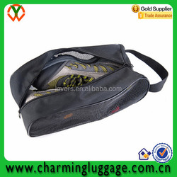 Wholesale high quality mesh shoe and bag set matching travel shoe bag