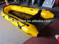 3.6m pvc sports inflatable boat with aluminum floor