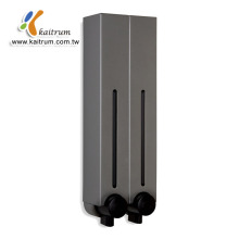 Most Popular Hot Selling Dual Grey 500ml Shampoo Liquid Bathroom wall mounted liquid soap dispenser