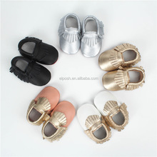 Toddler Leather Infant Crib Baby Moccasins