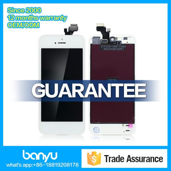 Mobile phone lcd screen digitizer for apple iphone 5g screen replacements