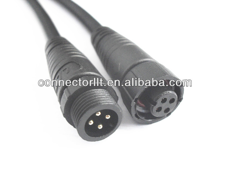 Male Female 4 pin christmas light ip65 connector