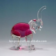 Pink Glass Craft Antique Mini Glass Animals
