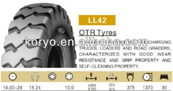 Good performance OTR Linglong Tyre 14.00-24