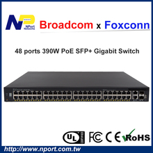 Hot sale 10G Base-T SFP+ PoE network switch for small business