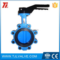 lug type butterfly valve 4 centerline butterfly valve lug style bronze disc epdm seat lever handle ci/di/ss/cs jis/din/ansi