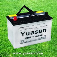 Yuasan Advanced 12V Dry Charged Automobile Battery with Korean design--NX120-7(12V80AH)