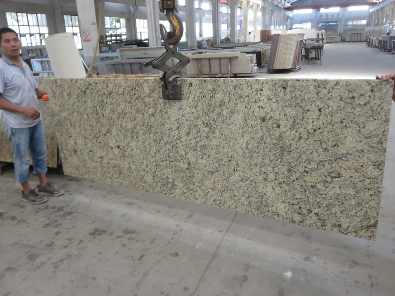 classic granite Yellow Brazil Granite Venetian Gold countertop