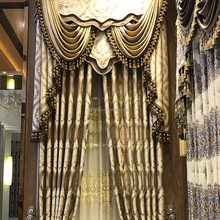 Jacquard Curtain With Attached Valance Cortinas Hotel Window Curtain