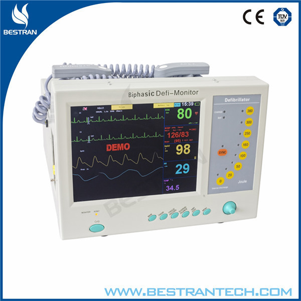 China BT-8000B Emergency equipment hospital cardiac biphasic defibrillator monitor with ECG