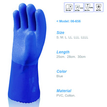 PVC triple dipped hand protection oil gas chemical resistant industrial work gloves EN388 4121