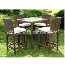 2018 Trade Assurance outdoor furniture resin wicker 5 pc unique bar stools