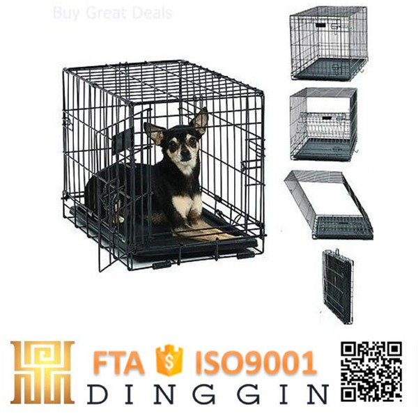 Folding dog crate cage for sale