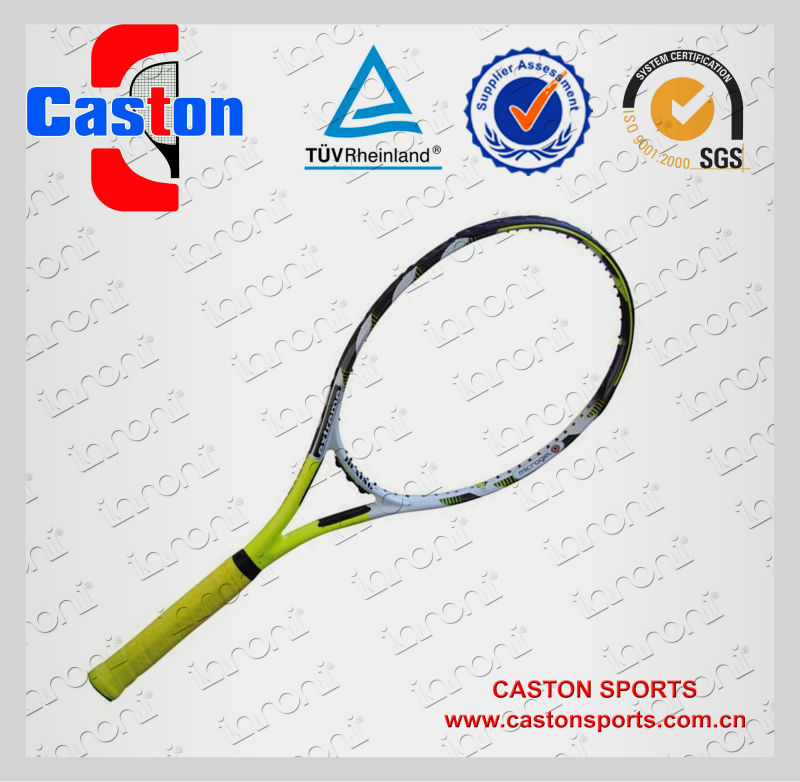 purple brand tennis racket head