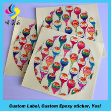 high quality permanent plastic printing glossy customized waterproof sticker
