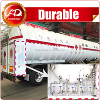 LNG transport truck tank semi trailer,liquid nitrogen tank trailer for sale