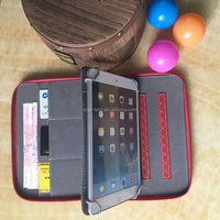 Real PU leather Hangbag handmade bracket stand smart wallet case leather for ipad