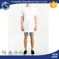 Wholesale chinese thick plain white mens loose fit extra long fishing t-shirts