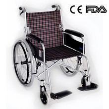Lightweight Folding Wheelchair With Aluminum Frame Easy To Carry CE & FDA Approved