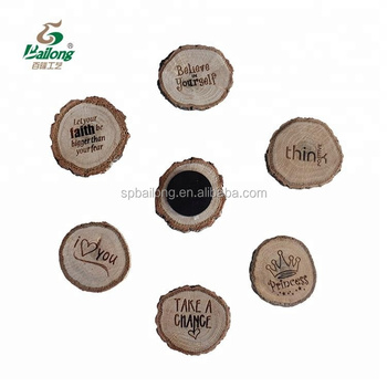 Laser engraved souvenir wood fridge magnet