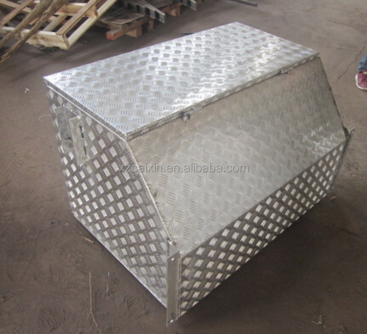 Waterproof aluminum truck tool box for trailer