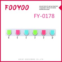 FOOYOO FY-0178 NEW LIFE COLORFUL STICKY LONG METAL HOOKS FOR CLOTHES HANGER