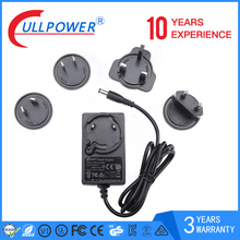 Fullpower brand Professional manufacturer interchangeable plug power adapter for router with 3 years warranty
