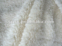 Jishengxiang textile polyester sherpa fleece /curly fleece fabric for winter cloth
