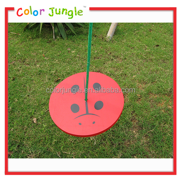 Low price outdoor wooden swing, hot sale wooden garden swing plank