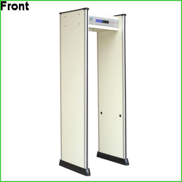 IP66 waterproof walk through metal detectors security gate TS-600 with backup battery supporting more than 8 hours working