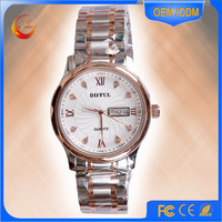 2016 fashion japan mov't stainless steel back case quartz wrist watch