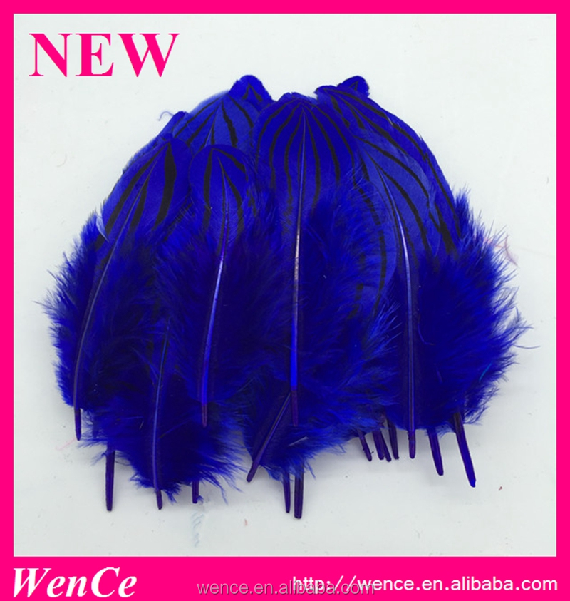 hina supplier wholesale 6-10cm dyed blue silver pheasant bodyfeather for decoration