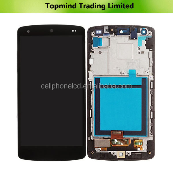 100% Warranty LCD Screen and Digitizer with Front Housing for LG Nexus 5 D820