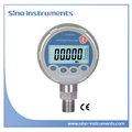 HX601 stainless steel connection differential pressure gauge with digital display