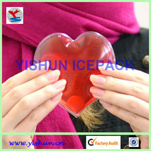 Magic instant heat red gel heart shape hot pads