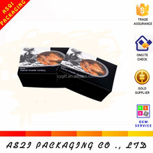 round clear window korean black ivory cardboard paper sushi box for packaging