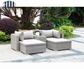 Aluminum Frame Upholstered wicker Outdoor Sofa Set