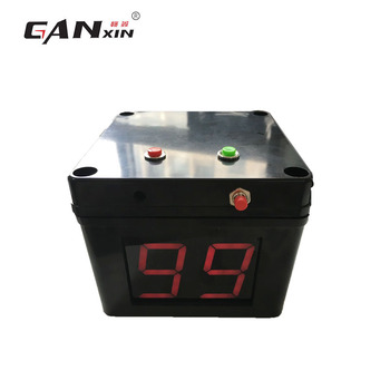 Ganxin AC Power Battery Powered  4 Sides Black Chess Clock Timer