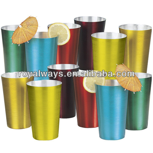 2016 Hot selling new design 22oz colorful aluminum cup