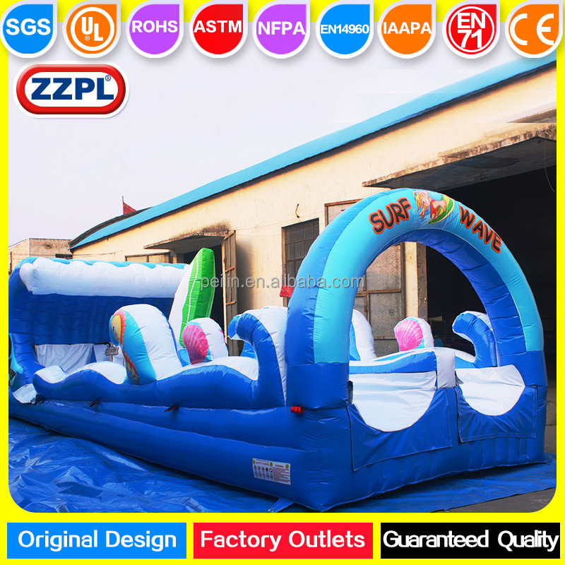 ZZPL 2017 Surf Wave Inflatable Slip Slide for adults, Backyard Inflatable Slip and Slide for kids