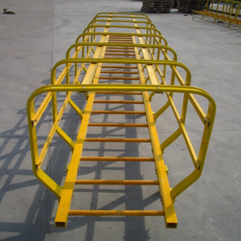 Fiberglass extension insulated ladder FRP step ladder handrail