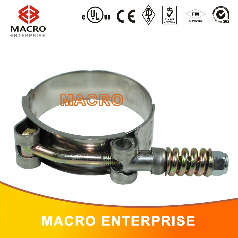 T-bolt spring band clamp/self-tightening sealing hose clamp
